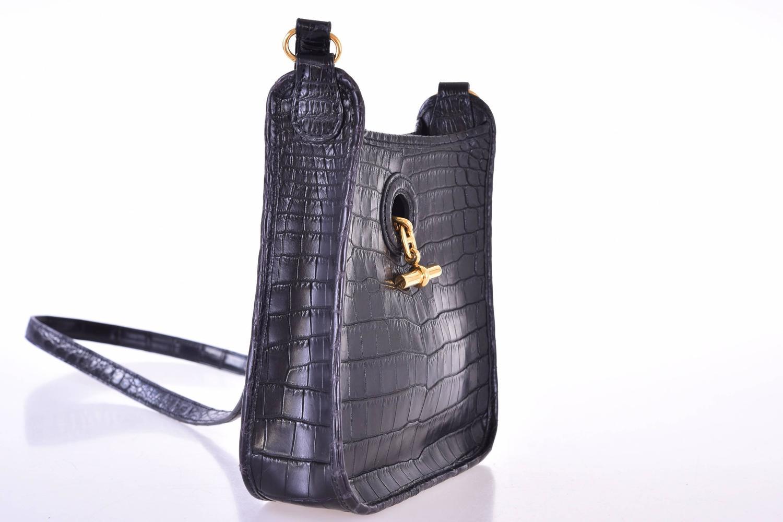 white hermes bag - Hermes Special Order Vespa Bag TPM Mini Nilo Crocodile Gold ...