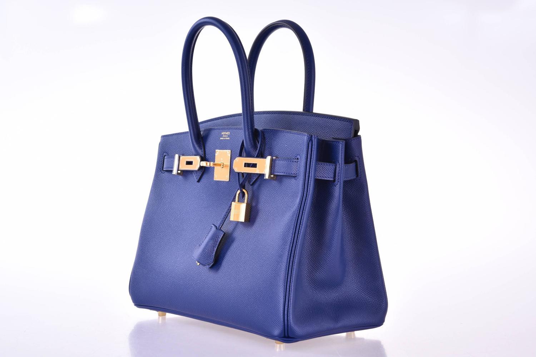 price of a birkin bag - Hermes Birkin Bag 30cm Blue Sapphire with Gold Hardware Epsom ...
