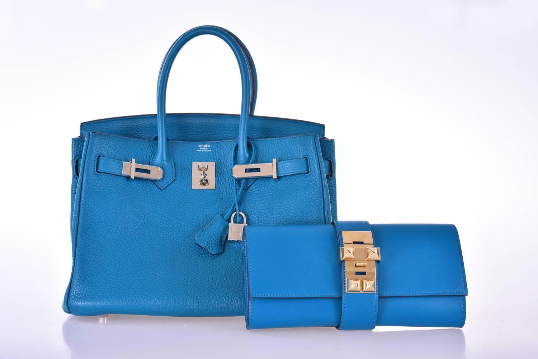 used birkin bags for sale hermes - Hermes 23CM Medor Clutch Hermes Medor Blue Izmir Clutch Gold ...