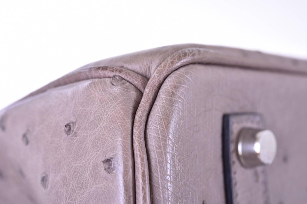 hermes bag price range - Hermes 35cm Ostrich Birkin Bag Gris Tourterelle Dove Gray ...