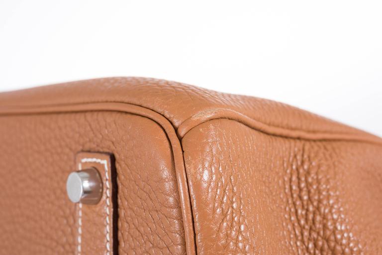 Hermes 35cm Birkin Gold Togo Palladium Hardware 5