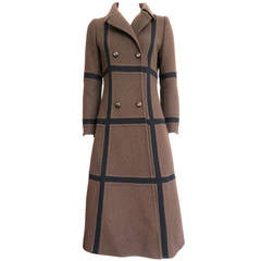 1970's GIVENCHY Haute Couture Wool paneled coat