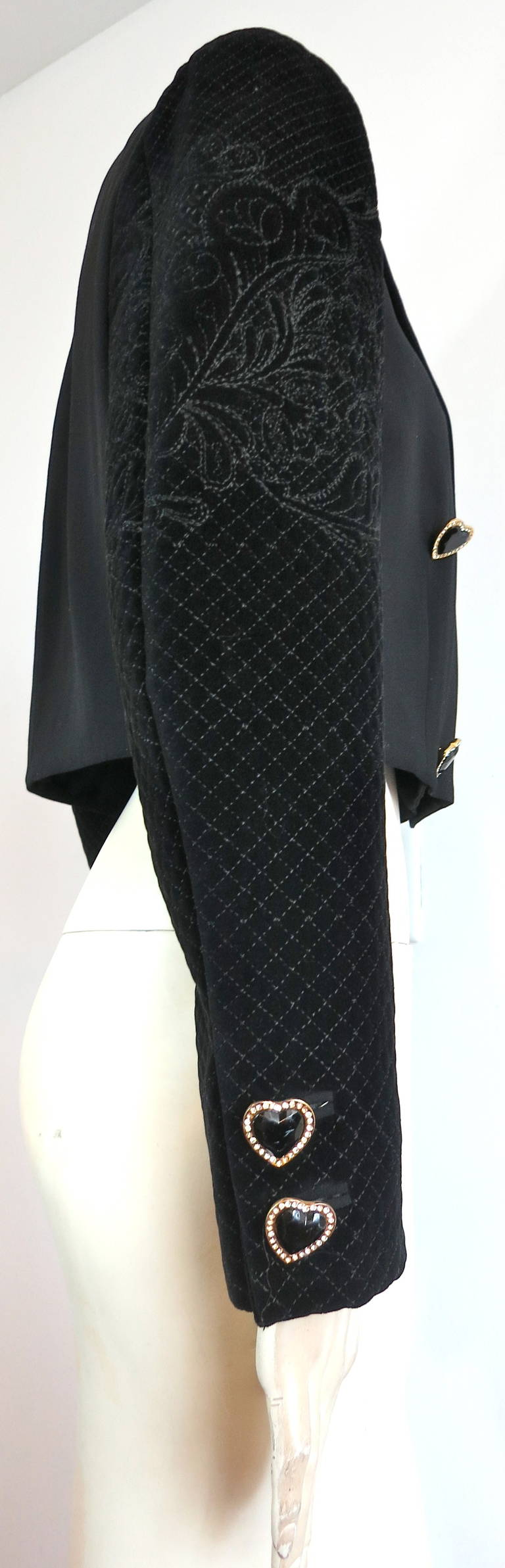 S gianni versace couture embroidered tuxedo jacket at
