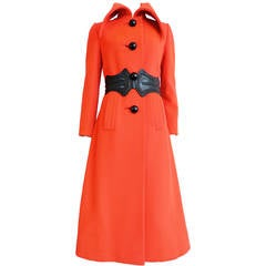 1960's PIERRE CARDIN Mod wool coat