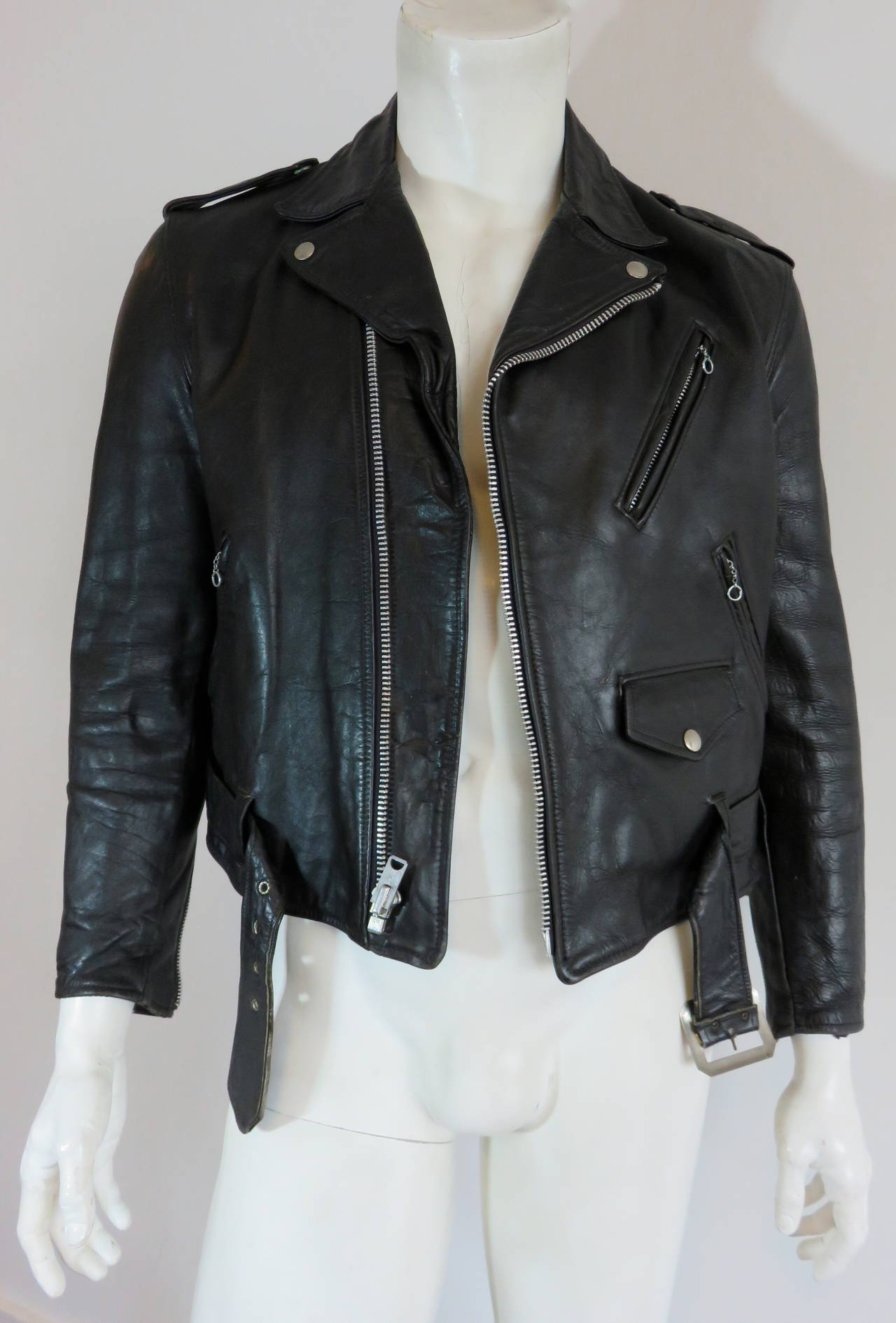 1960 S Schott Bros Usa Men S Perfecto Leather Motorcycle