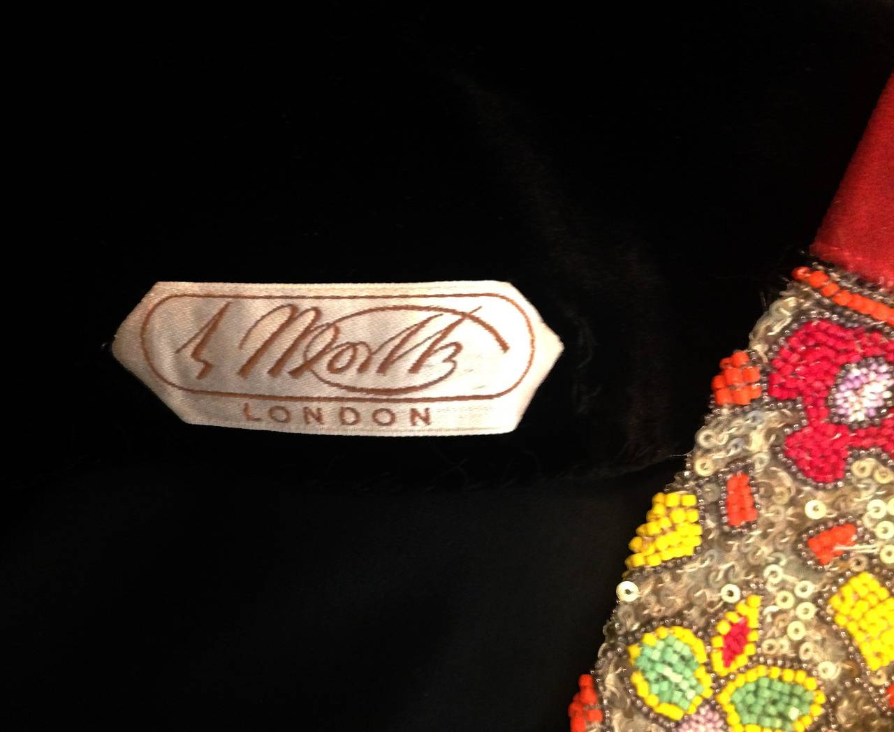 1920 39 s house of worth haute couture beaded velvet and silk for 1920 s haute couture