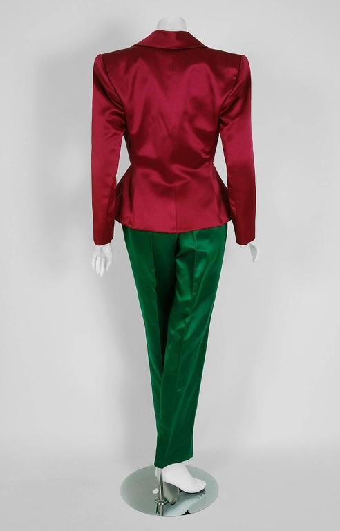 Emerald Green Satin Blouse