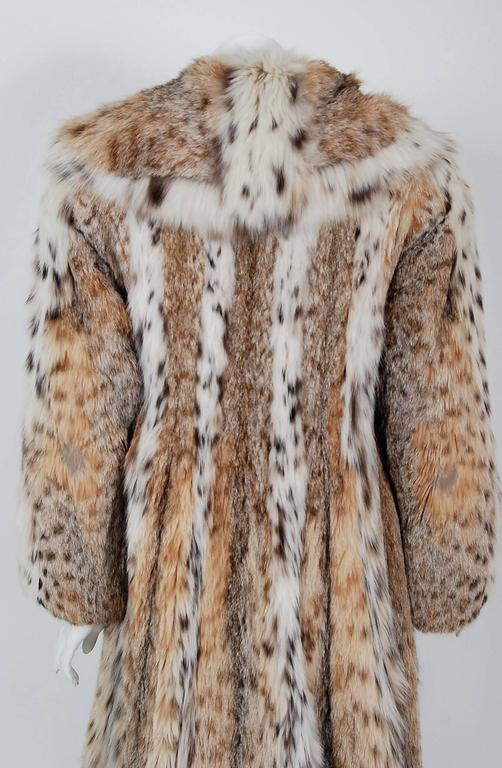1960's Ben-Ric Couture Genuine Lynx Fur Spotted Cat Shawl-Collar Princess Coat 1