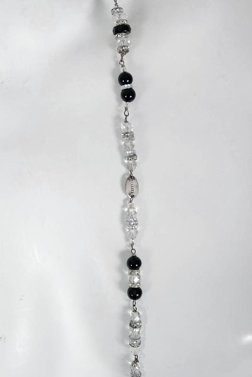 Mixed Cut Vintage 1954 Chanel by Robert Goossens Crystal Long Sautoir Couture Necklace For Sale