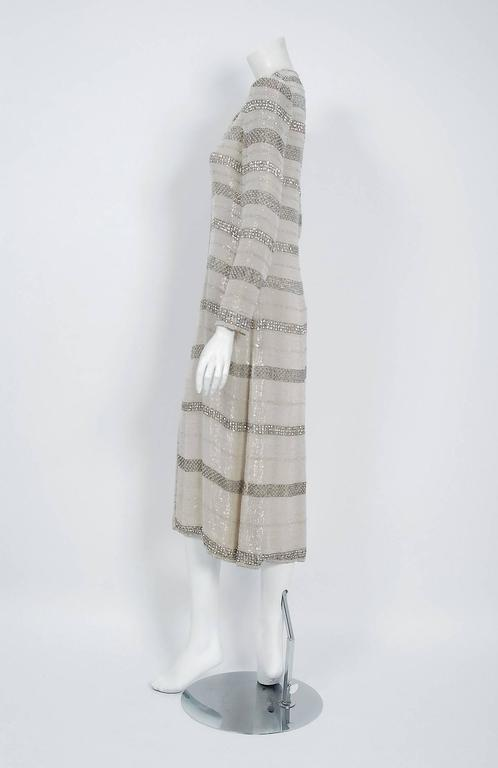 1976 Chanel Haute-Couture Rare Beaded Lesage Silk Jacket & Pleated Dress Skirt 8