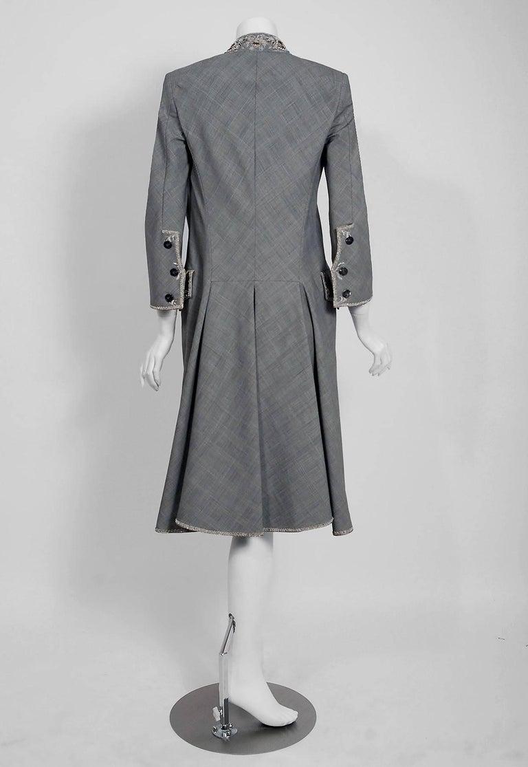 Alexander McQueen Embroidered Metallic Bullton Victorian Tails Coat Jacket, 2002 For Sale 1