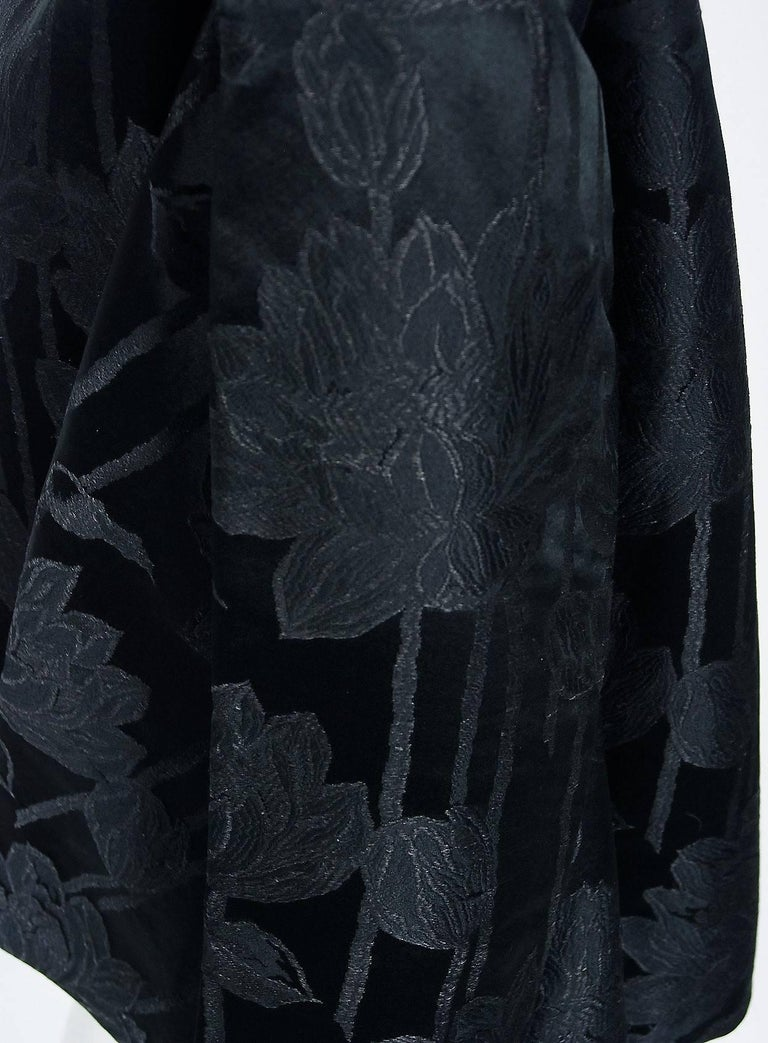 Women's Vintage 1953 Christian Dior Haute-Couture Floral Silk Brocade Winged Jacket For Sale