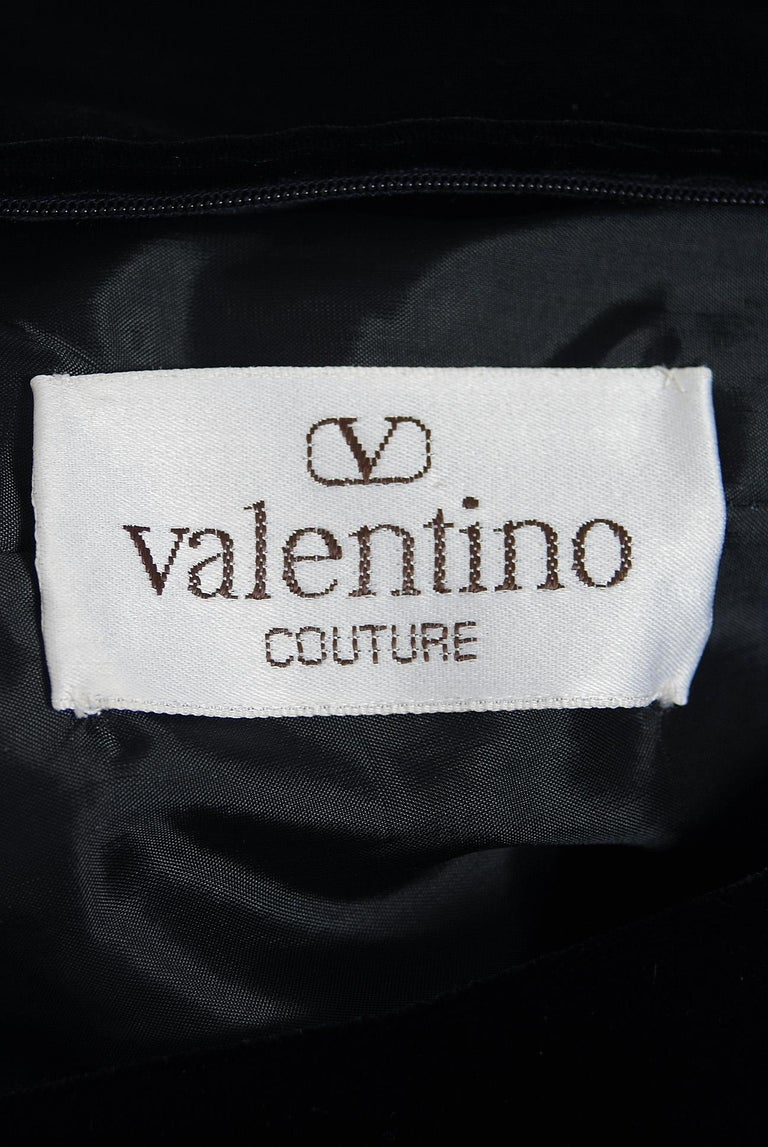 Vintage 1992 Valentino Couture Sheer-Illusion Beaded Silk Velvet Dress & Jacket For Sale 3