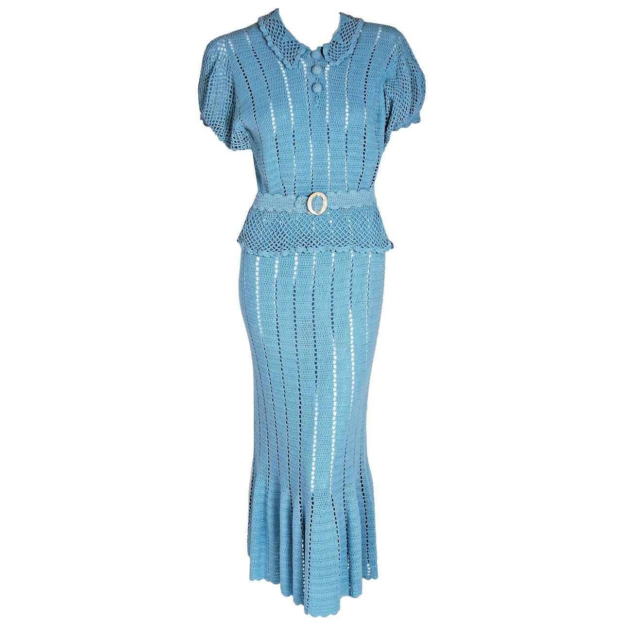 Baby blue fishtail dress
