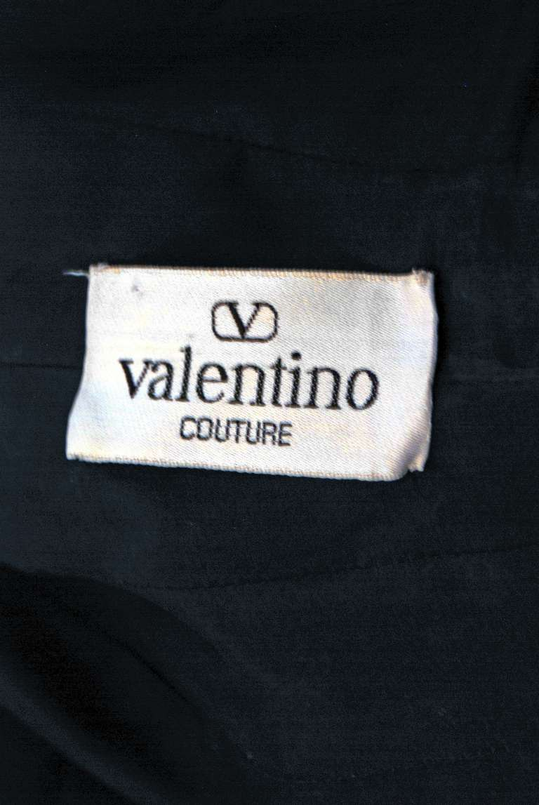 1989 Valentino Couture Silk-Faille Black & White Tuxedo Cocktail Dress 4