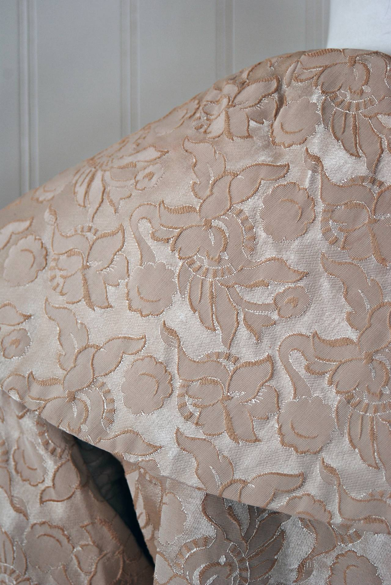 1950 S Lilli Diamond Beaded Champagne Silk Brocade