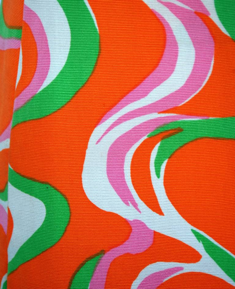 1960's Pierre Cardin Psychedelic Cotton-Twill Circle Cut-Outs Mod Tunic Dress 3