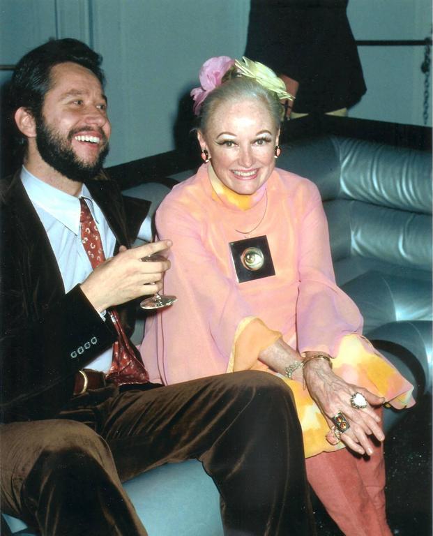 1960's Phyllis Diller Estate Pink & Yellow Chiffon Gypsy Harem-Pants Ensemble  2