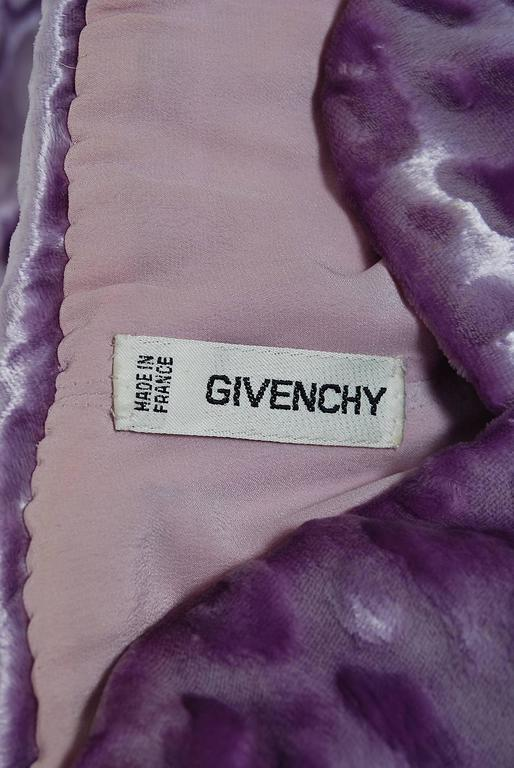 1990 givenchy haute couture lavender leopard print silk for Haute couture labels