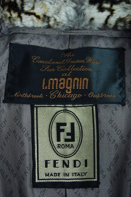 Vintage 1978 Fendi Couture by Karl Lagerfeld Chinchilla Fur Maxi Jacket Vest For Sale 4