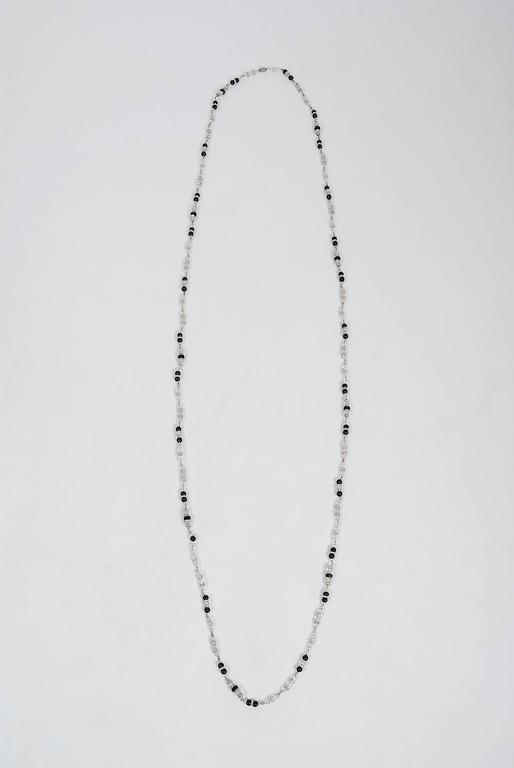 Vintage 1954 Chanel by Robert Goossens Crystal Long Sautoir Couture Necklace For Sale 1