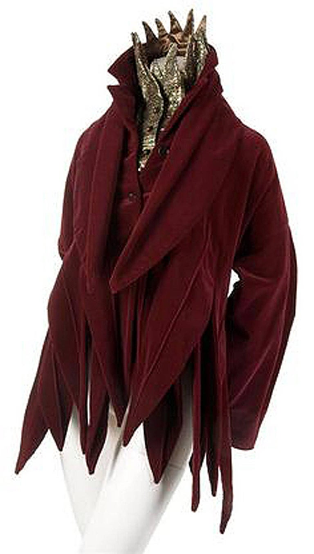 Vintage 1987 Romeo Gigli Museum-Held Red Velvet Jester Petal Swing Coat Jacket  For Sale 4