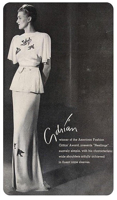 1940\'s Flying Birds Sequin Metallic Embroidered Novelty Black Silk ...