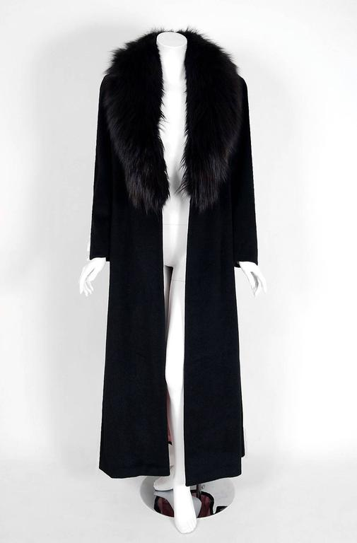 1958 Sorelle Fontana Haute-Couture Black Wool Fox-Fur Coat Owned By Ava Gardner 2