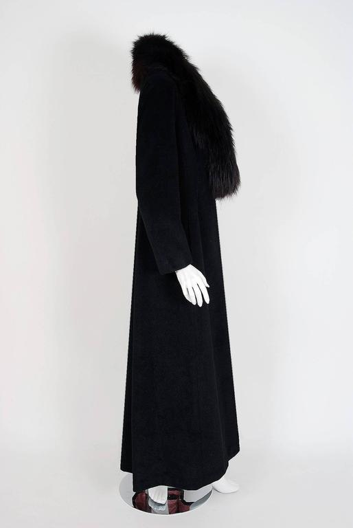 1958 Sorelle Fontana Haute-Couture Black Wool Fox-Fur Coat Owned By Ava Gardner 3