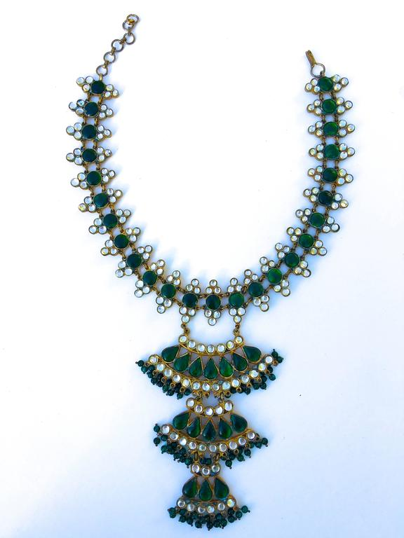 Moghul inspired Kenneth Lane 1960s collar and bib necklace 2