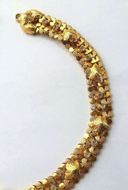 Exceptional gilt and paste starburst pendant necklace,c.1960s, attributed to CIS 6
