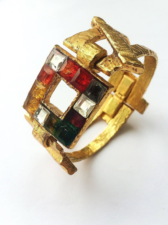 1990 39 s christian lacroix multi coloured bracelet for sale at 1stdibs. Black Bedroom Furniture Sets. Home Design Ideas