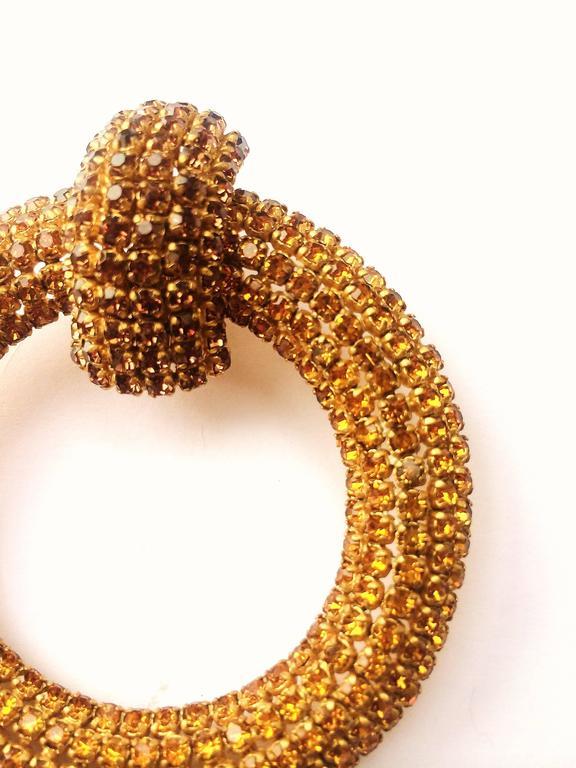 Spectacular Roger Jean-Pierre hoop earrings, 1960s 2