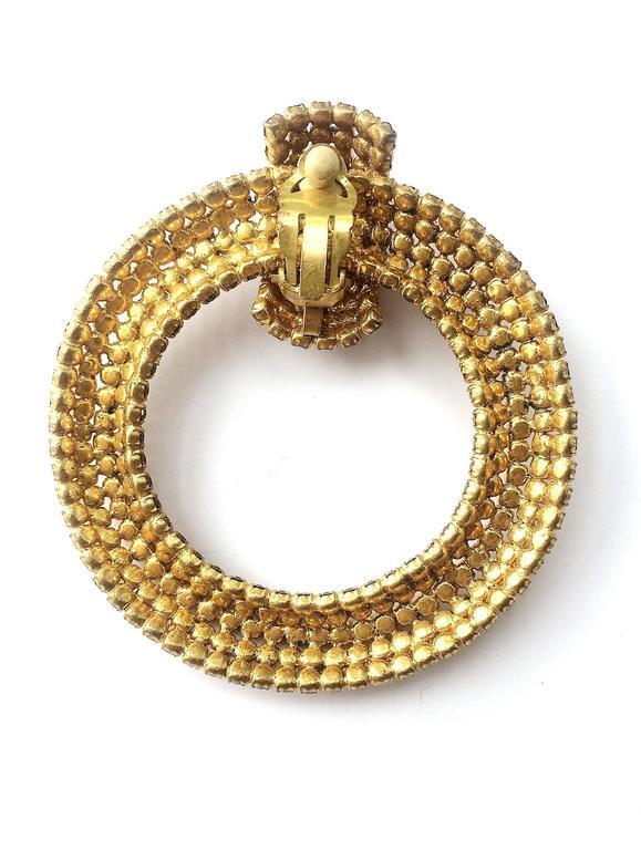 Spectacular Roger Jean-Pierre hoop earrings, 1960s 3