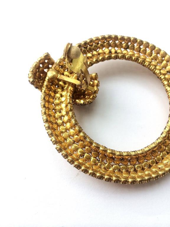 Spectacular Roger Jean-Pierre hoop earrings, 1960s 4