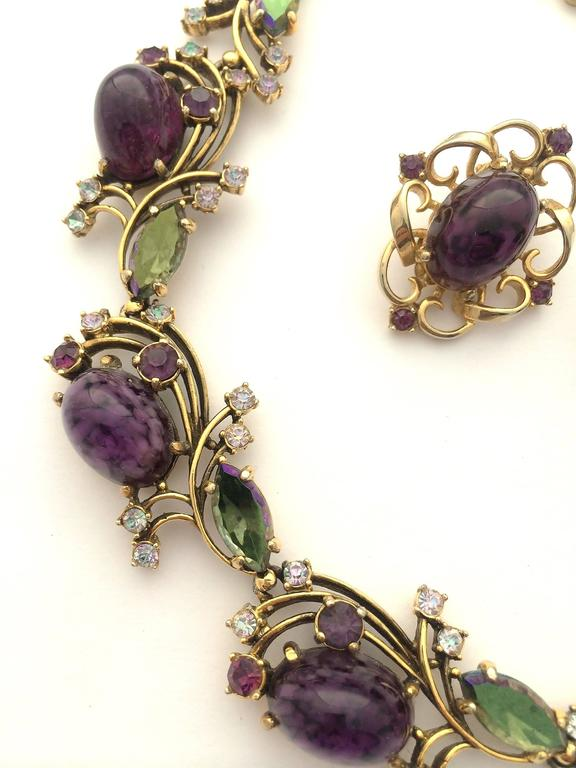 Elegant necklace, with matching earrings by Elsa Schiaparelli, 1950s For Sale 4