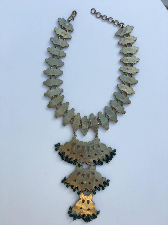 Moghul inspired Kenneth Lane 1960s collar and bib necklace 4