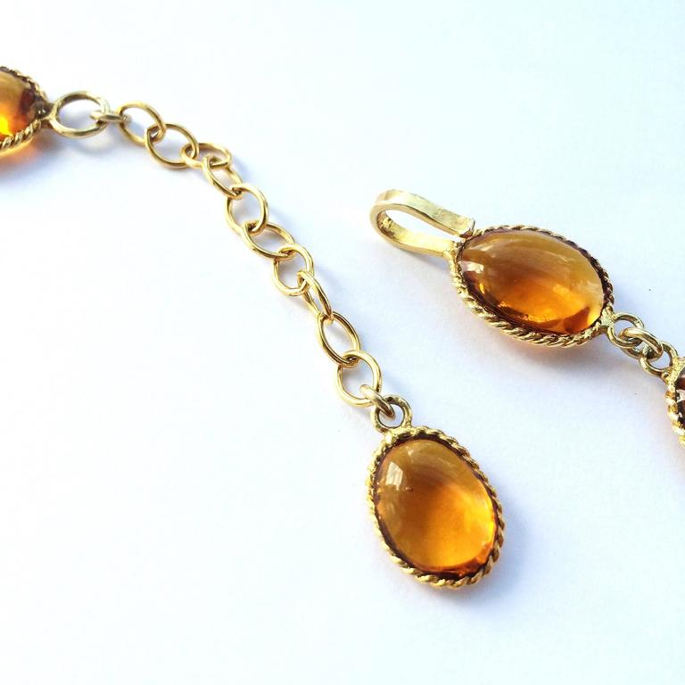 Impressive poured glass and gilt pendant necklace 7
