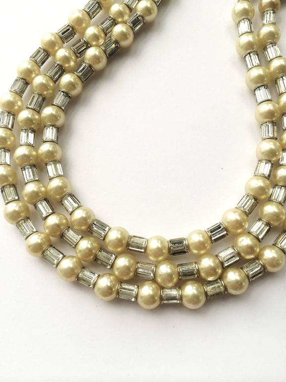 Iconic and utterly unique Trifari 'Mamie Eisenhower' pearl and paste choker, 195 4