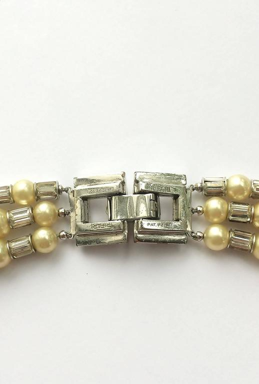 Iconic and utterly unique Trifari 'Mamie Eisenhower' pearl and paste choker, 195 6