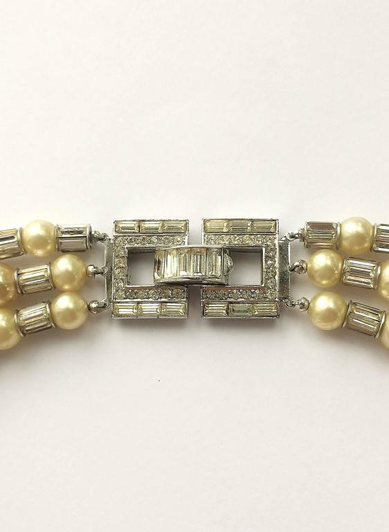 Iconic and utterly unique Trifari 'Mamie Eisenhower' pearl and paste choker, 195 7