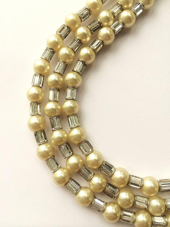 Iconic and utterly unique Trifari 'Mamie Eisenhower' pearl and paste choker, 195 9