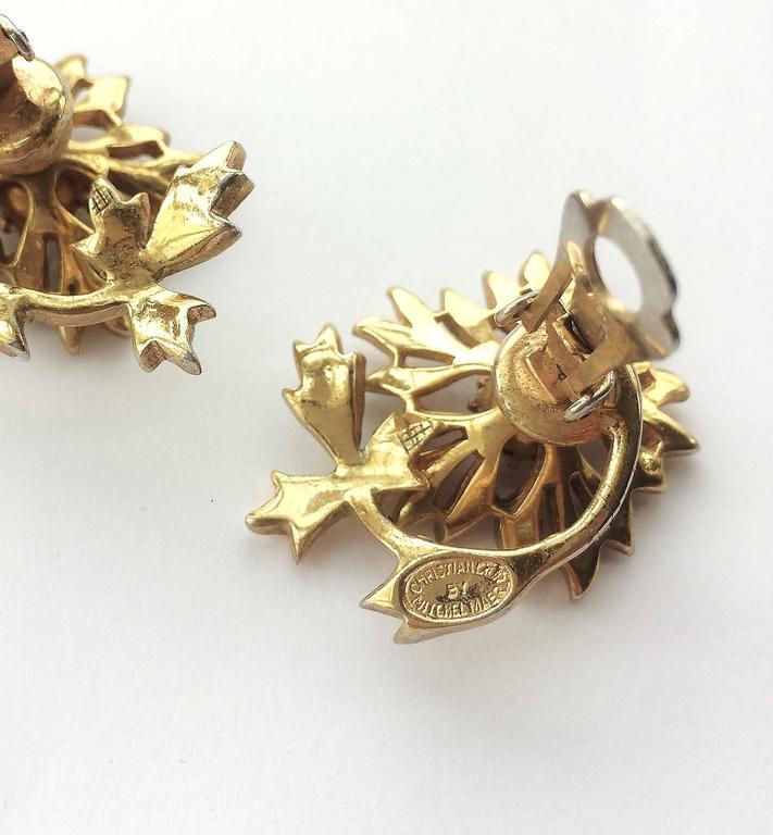 Rare Christian Dior 'en tremblant' earrings, 1950s 9