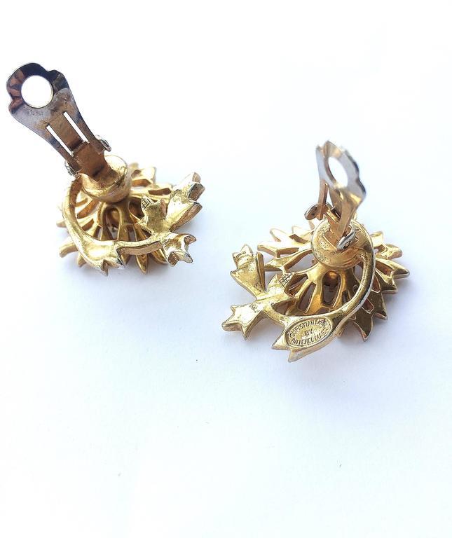 Rare Christian Dior 'en tremblant' earrings, 1950s 10