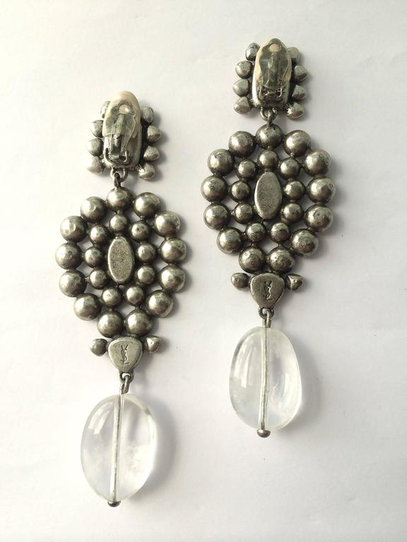 Majestic Moghul style necklace and matching drop earrings, Tom Ford for YSL 7