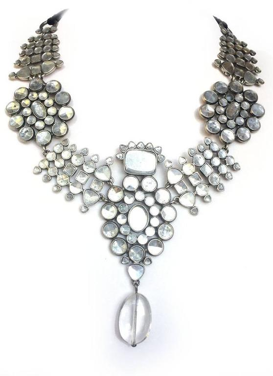 Majestic Moghul style necklace and matching drop earrings, Tom Ford for YSL 4