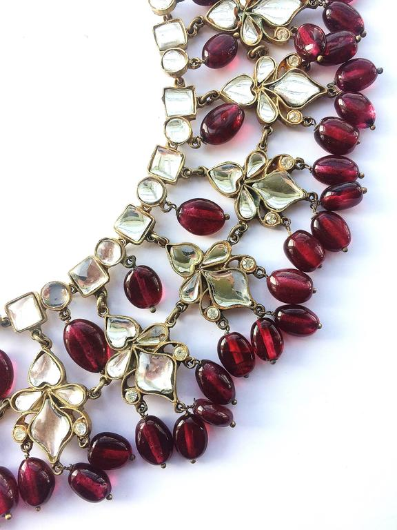 Kenneth Jay Lane Moghul style necklace, 1960s 7