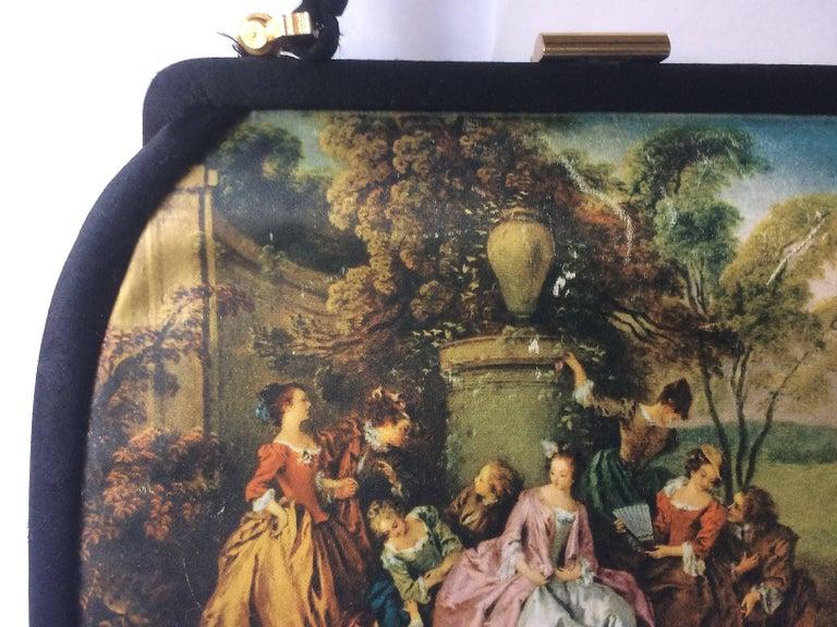 'French Romantic' homage silk handbag, with accessories, Italian, 1960s