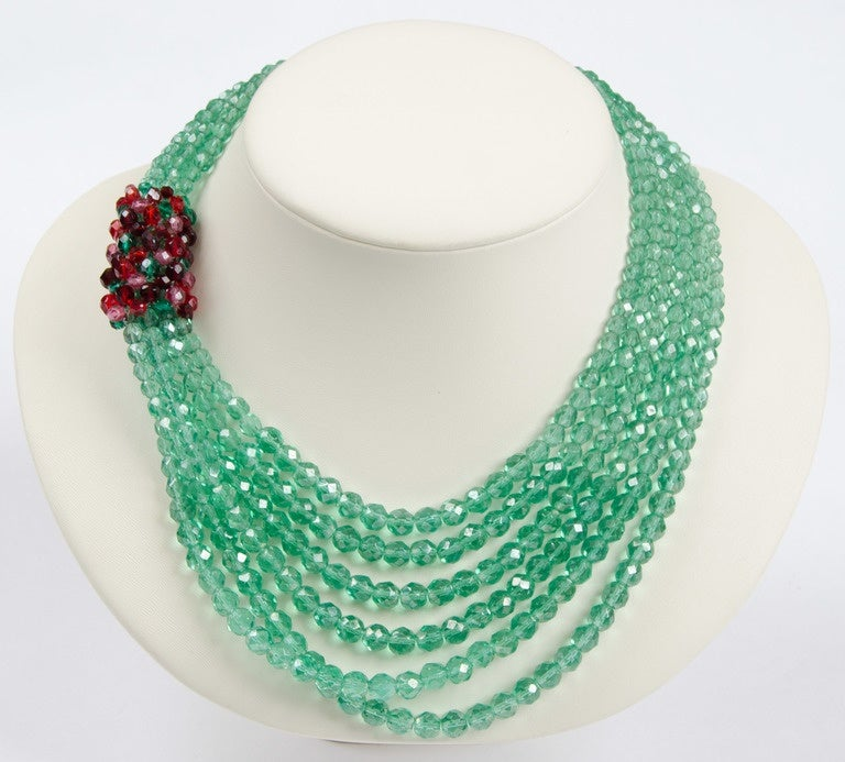 Coppola e Toppo multi row bead necklace, 1950s 6