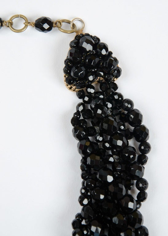 Women's Coppola e Toppo half crystal bead intertwined necklace 1960s